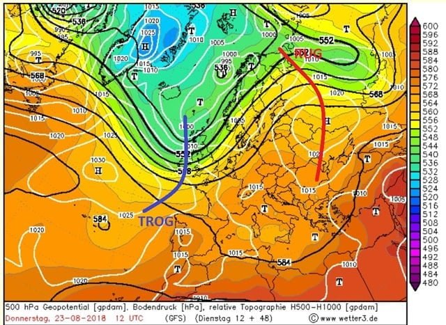 GFS 500 hPa do