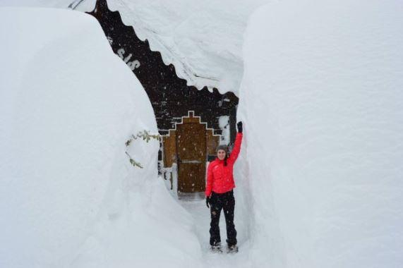 Veel sneeuw in Val d'Isère