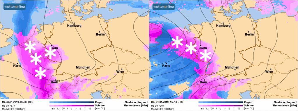 Komende dagen zijn er meerdere sneeuwkansen in de Benelux.