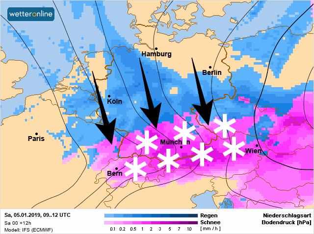 Sneeuwval in de Oostelijke-Alpen.