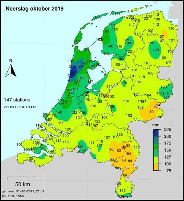 droogte van 2019 nederland oktober