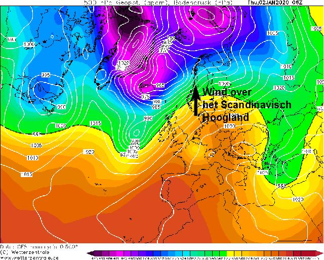 winterrecord in noorwegen luchtdruk